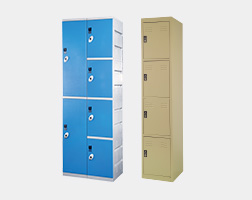 Plastic and Metal Lockers